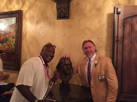 With Kevin Greene after the Induction ceremony.