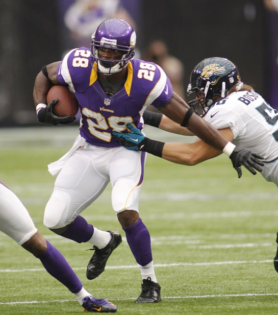 Adrian Peterson without a knee brace after reconstructive surgery is tearing the NFL apart.
