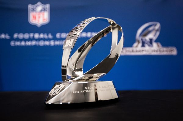 This year's George Halas NFC Championship Trophy  just arrived today in Atlanta.