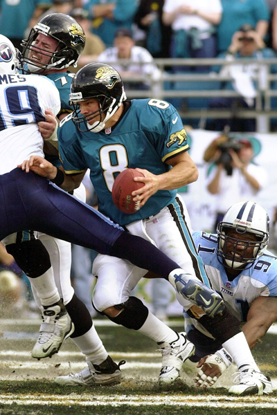 Mark Brunell sacked for the safety which turned the momentum in the '99 AFC Championship Game.