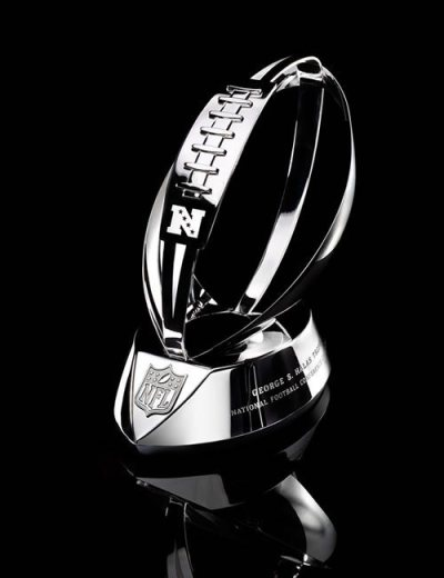 The George Halas Trophy that is awarded to the NFC Champion.