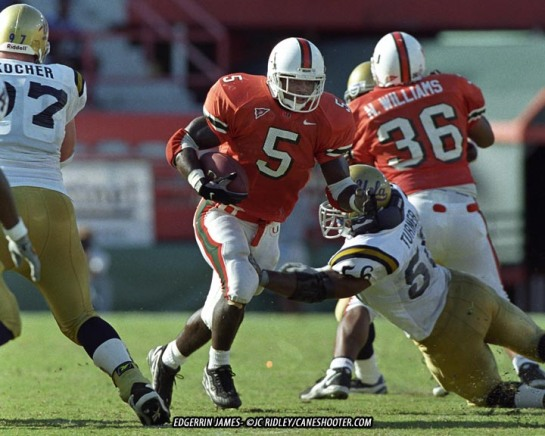 The 49-45 upset of UCLA put [[_]] and Edgerrin James on the map. Miami return to prominence happend that day.