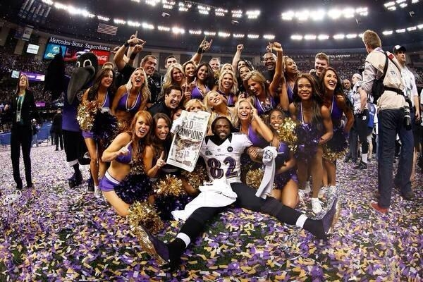 Torrey Smith and the prettiest Ravens in the building.