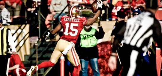 Crabtree emerged as the big play receiver team execs envisioned when they drafted him out of Texas Tech.
