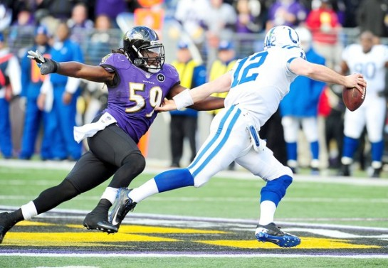 Danell Ellerbe has flown the Ravens coup.