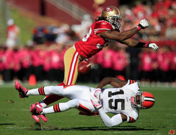 The San Francisco 49ers lost an enforcer with Goldson's departure.
