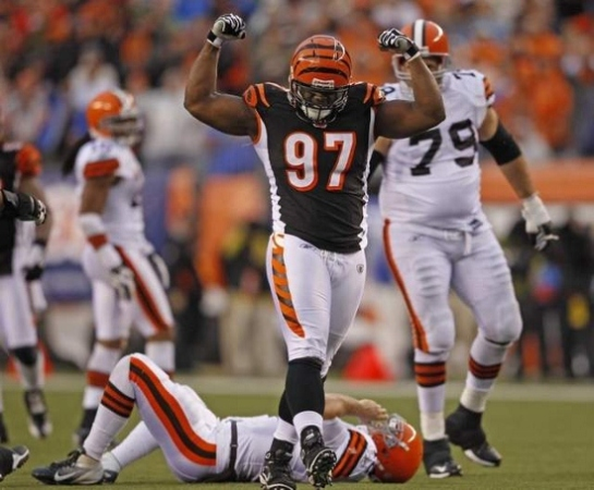 Geno Atkins leads the Bengals beastly pass rush.