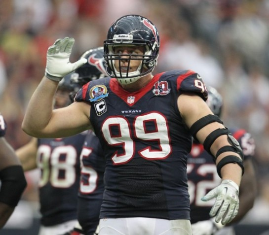 JJ Watt was a finalist for the Taylor Blitz Times Defensive Player of The Year