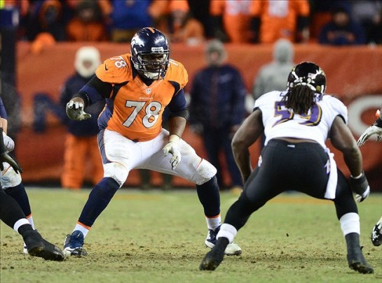 At 6'6 315lbs., Clady has become the prototypical LT and has made the Pro Bowl 3 times in the past five years. He has a long career ahead of him as the Bronco blind side protector.