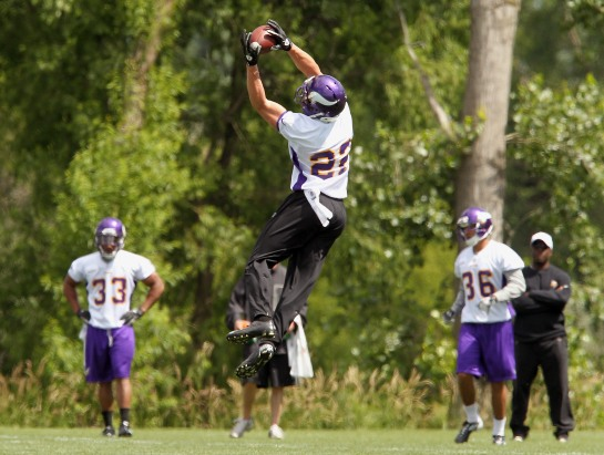 White men can't jump huh?? Think again. Harrison Smith is a true talent at Free Safety. He should make the Pro Bowl in his second season easily.
