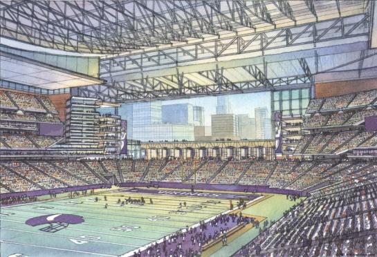 Diagram of new stadium.