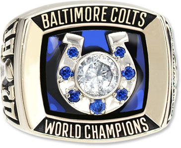 The ring commissioned for winning Super Bowl V.