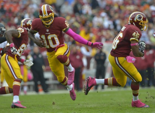 All eyes on Robert Griffin III as he returns from off season knee surgery.