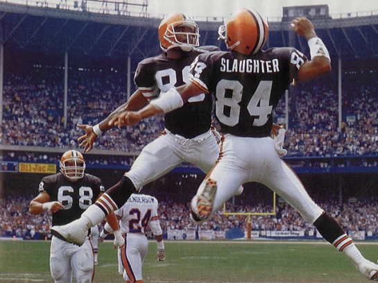 Wide Outs Webster Slaughter and Reggie Langhorne embodied the spirit of the Browns of that era.