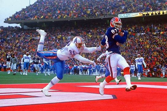 Andre Reed scores the go ahead touchdown in the greatest comeback in NFL history.