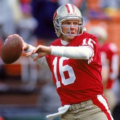 Joe Montana during his san Francisco heydey.