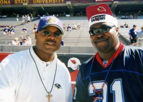 Hall of Fame linebacker Mike Singletary and The Chancellor of Football on the Ravens sideline in 2003.