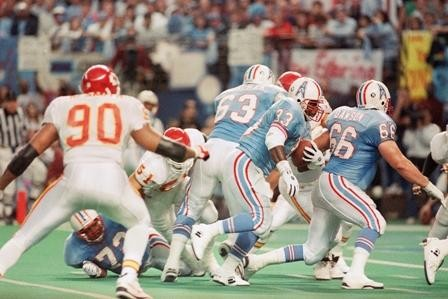 The Chiefs defense matched the physicality of the vaunted Oiler defense.