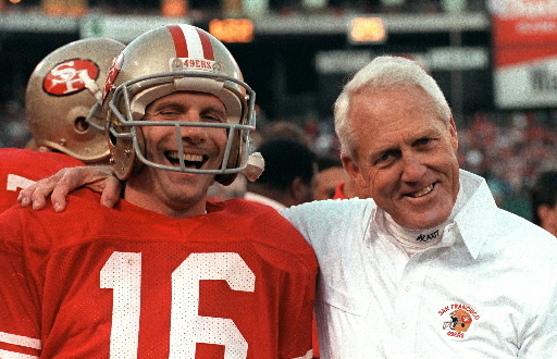 Joe Montana and Bill Walsh are linked forever in football lore.