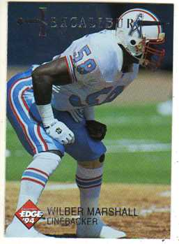 When Buddy Ryan brought in former All Pro Wilber Marshall, the defense took on a totally different tone.