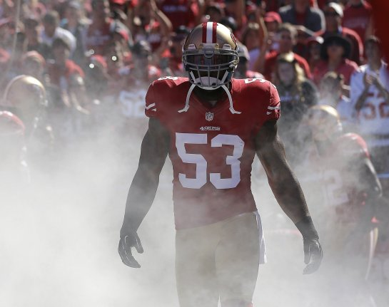 The best all around linebacker in the NFL. Last year's Taylor Blitz Defensive Player of the Year: Navorro Bowman