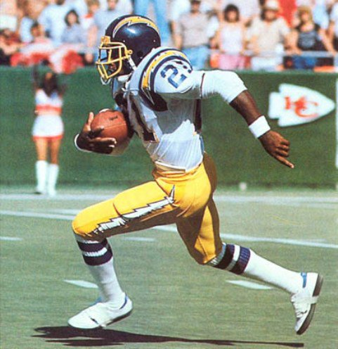 James Brooks burst onto the NFL scene in 1981 out of Auburn.