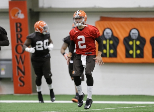Manziel at his first rookie camp in Cleveland.