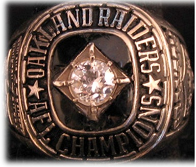 Al Davis first Raider ring