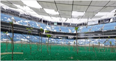 "The Silverdome as it exists today. Almost a scene from the shoow ""Life after People"""