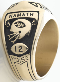 Copy of Joe Namath's Super Bowl III ring.