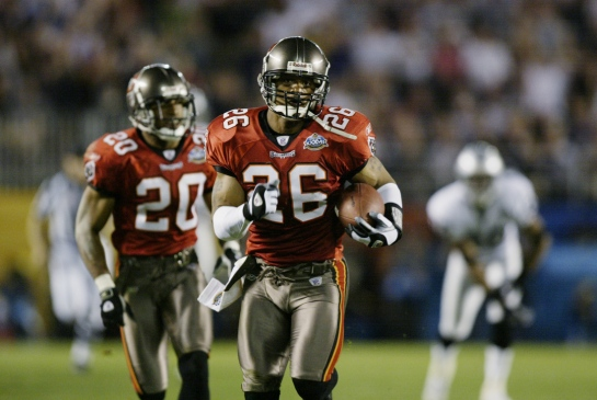 Dwight Smith capped off Super Bowl XXXVII with 2 defensive touchdowns. Should have been the MVP.