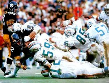 The No Name Defense stopping Franco Harris in the '72 AFC Championship Game.