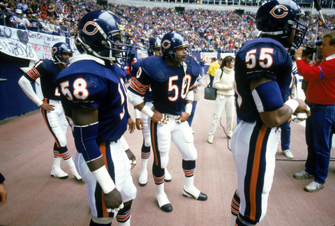 The best trio of linebackers in the game in Mike Singletary, Wilber Marshall, and Otis Wilson.