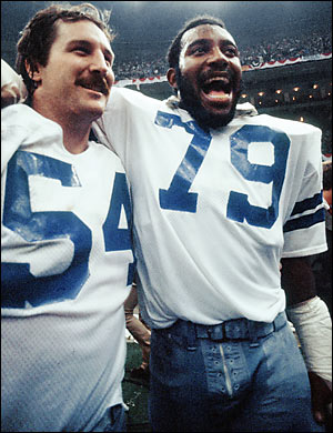 Supe Bowl XII Co-MVPs Randy White and the late Harvey Martin.