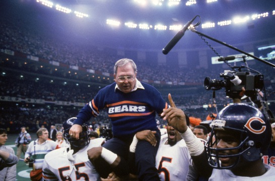 Defensive Coordinator Buddy Ryan was also carried off after Super Bowl XX.