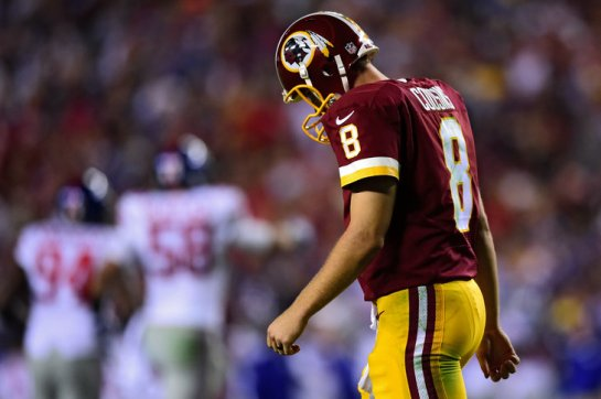 Cousins was unglued by the Giants defense.