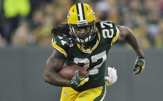The key to the Packers winning is Eddie Lacy running right at the Seahawk defense.