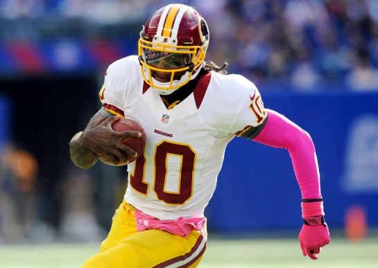 RGIII has to learn to let route options 2 & 3 open up downfield and less of this.