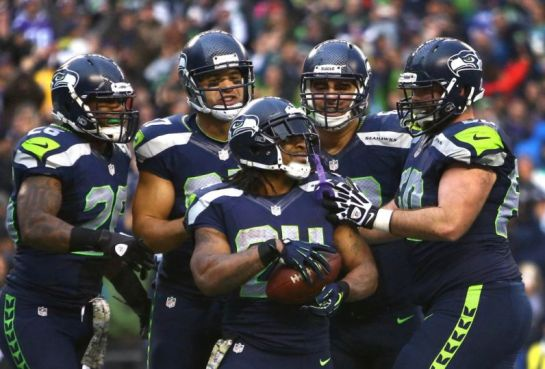 Marshawn Lynch's 4 touchdown performance last week propelled a 38-17 drubbing of the Giants last week.