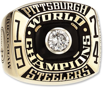 A closer look at the front of the ring.