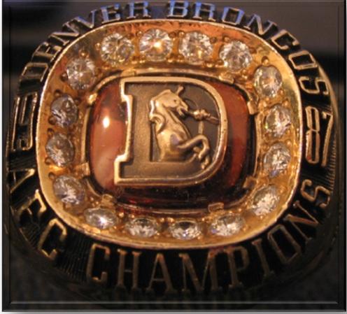 87 Broncos ring