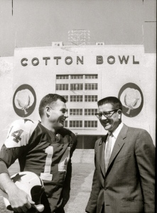 Eddie LeBaron pictured with 1st Dallas Cowboy owner Clint Murchison.