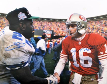 Passing of the torch after the 1992 NFC Championship Game.