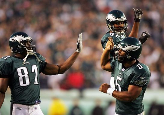 McNabb to Owens made the 2004 Eagles.