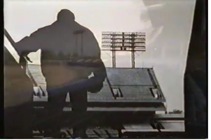 Unitas! Pictured in Baltimore's Memorial Stadium one last time.