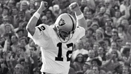 Stabler celebrating a score in Super Bowl XI.