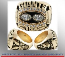 SUPER BOWL XXV CHAMPION 1990 NEW YORKGIANTS