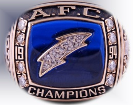 SUPER BOWL XXIX RUNNER UP 1994 SAN DIEGO CHARGERS