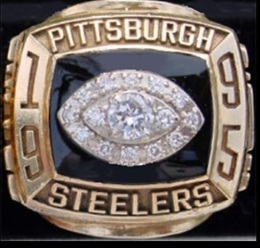 SUPER BOWL XXX RUNNER UP 1995 PITTSBURGH STEELERS