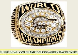 SUPER BOWL XXXI CHAMPION 1996 GREEN BAY PACKERS